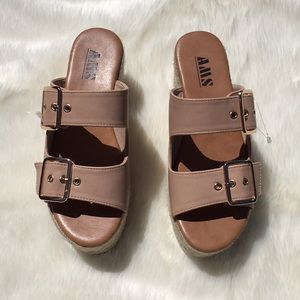 cec7db96e469 AMS Shoes - Nude AMS Platform Sandals